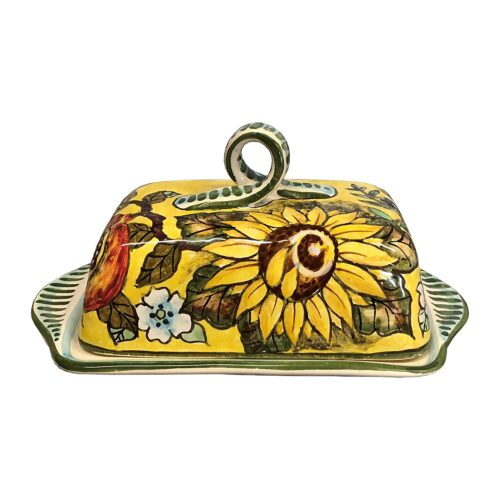 Butter dish tuscan yellow