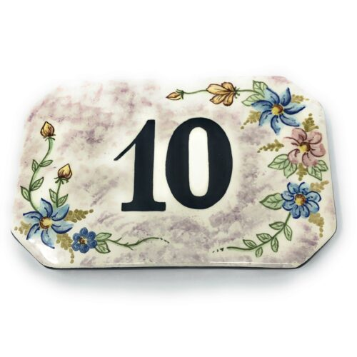italian ceramic tuscan number tile , plaques, custom tile address hand painted , numero civico personalizzato in ceramica , numeri civici