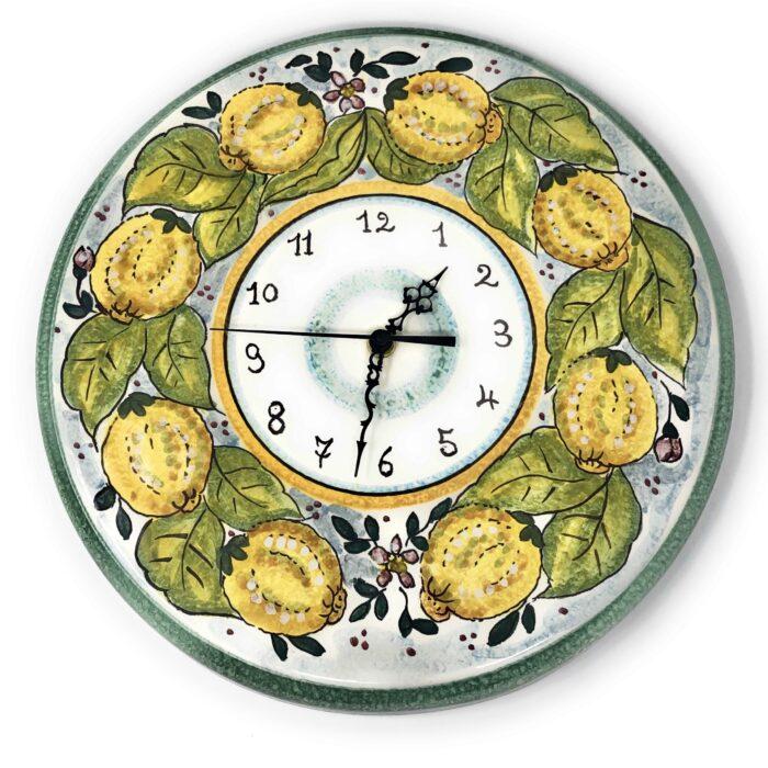 Clock Lemons white background