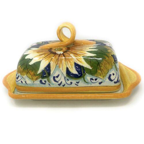 Butter dish sunflower