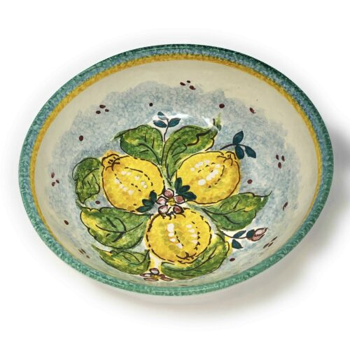 Bowl Lemons white background