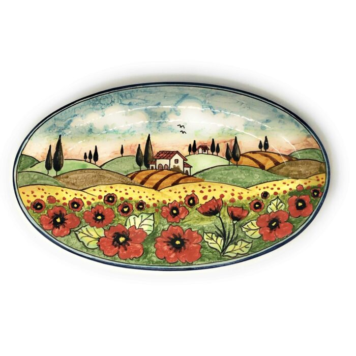 Tray Landscape Poppies