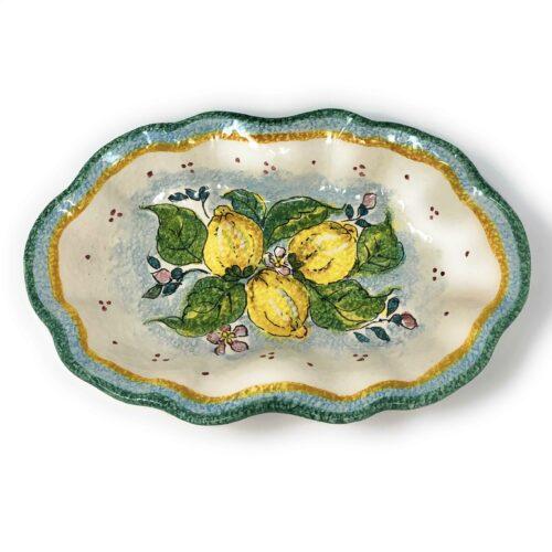 Bowl Lemons white background