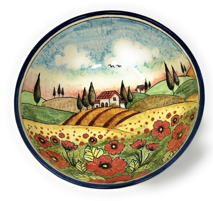 Bowl Landscape poppies