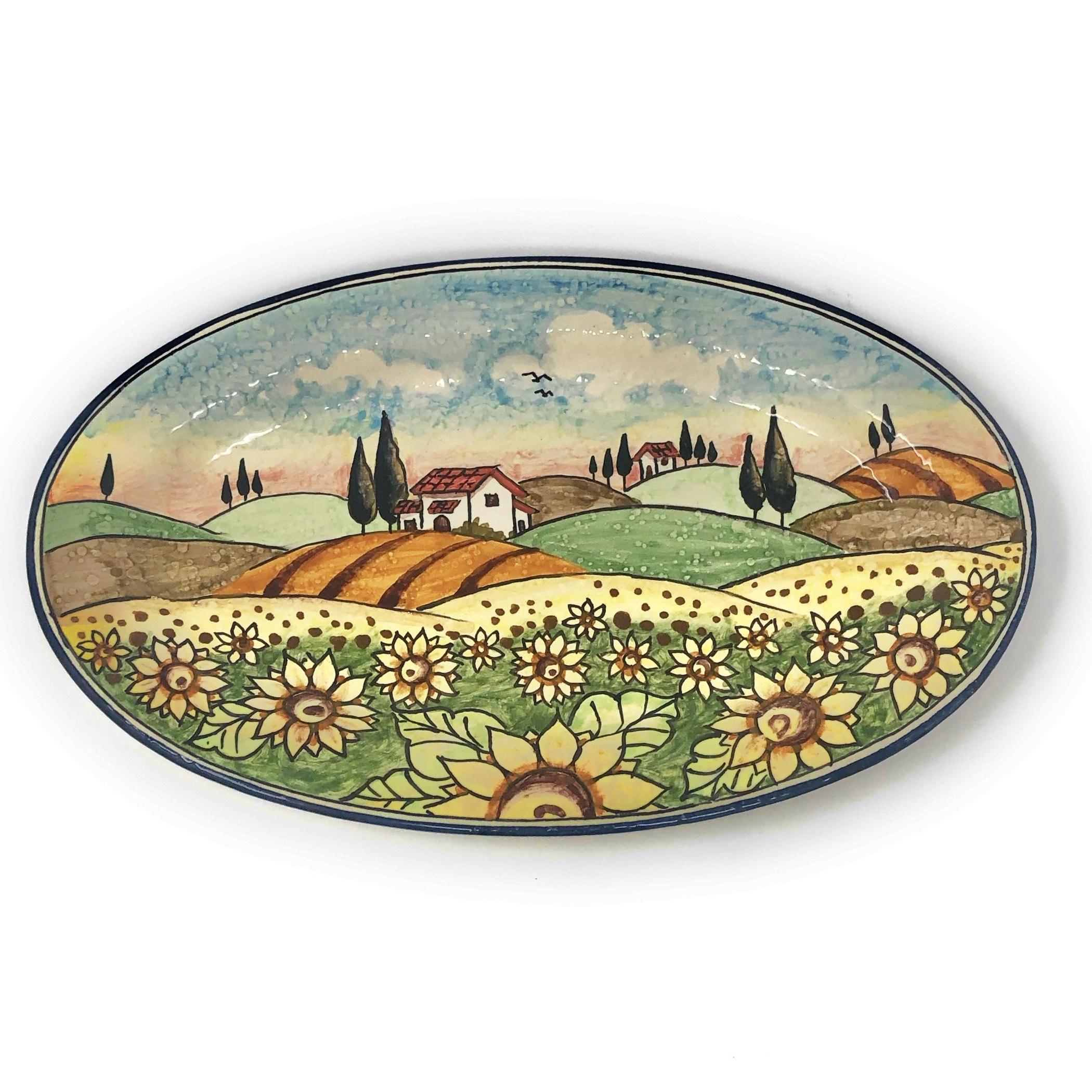 Tray Landscape sunflowers