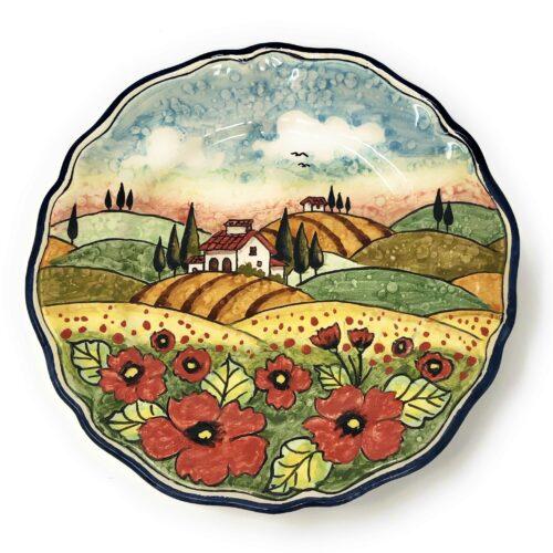 Bowl Landscape poppies