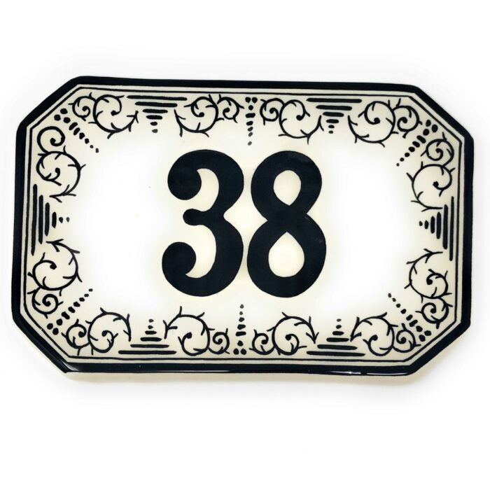 Number tile 7.87 Inch x 5.11 Inch