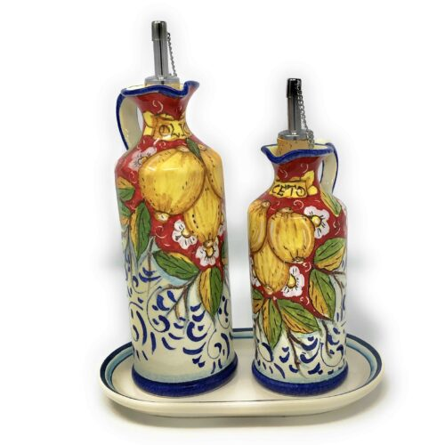 Cruet set oil and vinegar