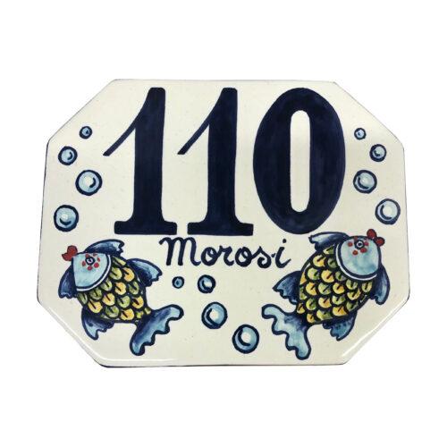 italian ceramic tuscan number tile , plaques, custom tile address hand painted , numero civico personalizzato in ceramica , numeri civici