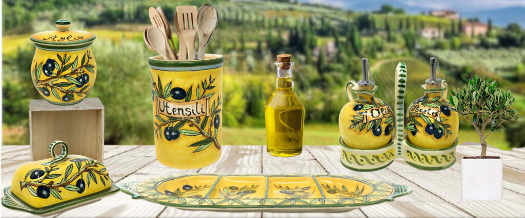 olives yellow background